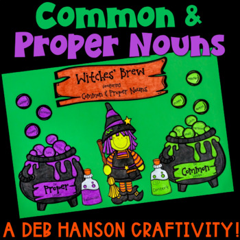Common and Proper Noun Halloween Craftivity: Witch's Brew