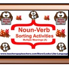 Noun-Verb Sorting (Multiple Meanings A)