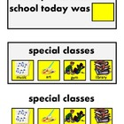 Communication Cards for Between School and Home about Spec