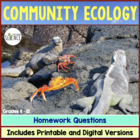 Community Ecology Homework and Study Guide