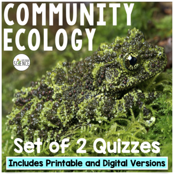 Community Ecology Quiz or Homework Review Worksheet