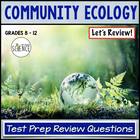 Community Ecology Review PowerPoint 50 Questions and Answers