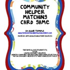 Community Helper Matching Cards