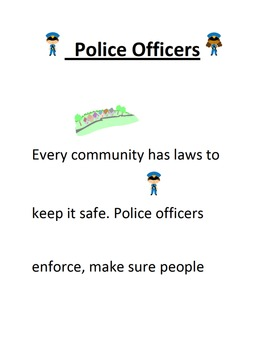 Community Helper- Police Officer