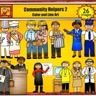 Community Helpers 2 - Jobs and Career Clipart personal or