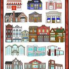 Community Helpers Buildings Clip Art for city and country