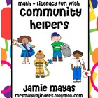 Community Helpers Math & Literacy Fun