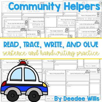 Community Helpers: Read, Trace, Glue, and Draw
