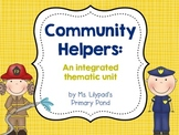 Community Helpers Unit for PreK, Kindergarten, or 1st Grade