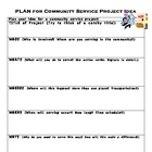 Community Service PLAN Worksheet