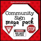 Community Signs Mega Pack for Early Childhood or Special E