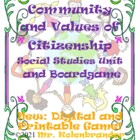Community and Values of Citizenship Social Studies Unit an