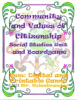 Community Topics and Values of Citizenship Board Game