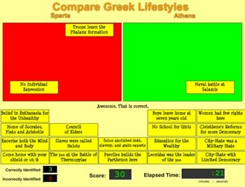 Compare Athens and Sparta Game - Bill Burton