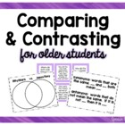 Compare &amp; Contrast for Older Students