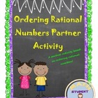 Compare & Order Fractions and Decimals Fun Partner Activity