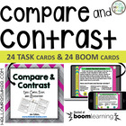 Compare and Contrast Task Cards, Scoot, Assessment, Multip