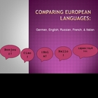 Comparing European Languages (Germanic, Romance, Slavic)