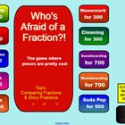 Comparing Fractions Game!  SMARTBoard Notebook