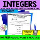 Comparing Integers, Absolute Value &amp; Operations with Integ