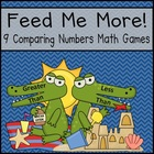 Comparing Numbers (Greater/Less Than) Math Centers (Common