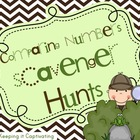 Comparing Numbers Scavenger Hunts