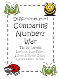 Comparing Numbers War (Differentiated)