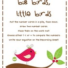 Comparing Numbers Winter Bird Math Center
