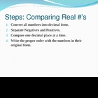 Comparing &amp; Ordering Real Numbers Notes