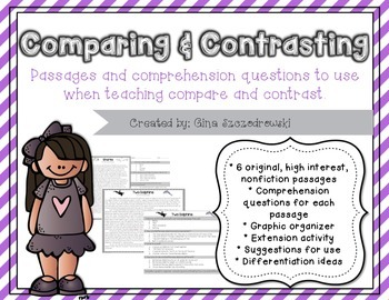 Comparing and Contrasting- 6  Nonfiction Passages