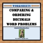 Comparing and Ordering Decimals Word Problems (2 worksheets)