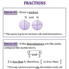 Comparing and Ordering Fraction Notes (5 options shown)