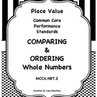 Comparing and Ordering Numbers - Common Core - 4th grade -