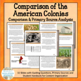 Comparing the American Colonies - Response Group or Center
