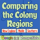 Comparing the Colony Regions:  New England, Middle, and th