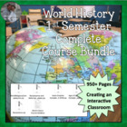 Complete 1st Semester World History Civ Package Plans, Activities
