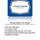 Complete Adult ESL Lesson (Energy Drinks Pose Danger)