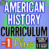 Complete American History Curriculum! Full Year of 34 Unit