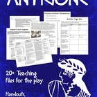 Antigone by Sophocles Handouts, Worksheets, and Common Cor