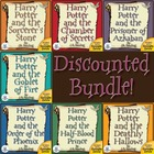 Complete Harry Potter Book 1-7 Novel Units CD~ Common Core