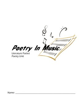 Complete High School Poetry Student Packet with Teacher Resources