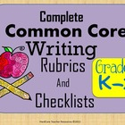 Complete K-2 Common Core Writing Rubrics