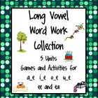 Complete Long Vowel Word Work Collection