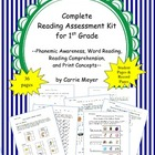 Complete Reading Assessment Kit for First Grade