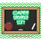Complete Sentence Pocket Chart Station Sort