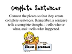 Complete Sentences Literacy Center