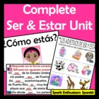 Complete Ser and Estar Unit (Power Points, Notes, Practice