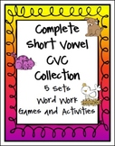 Complete Short Vowel CVC Word Work Collection