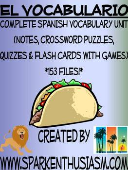 Complete Spanish Vocabulary Unit