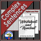 Complex Sentence Worksheet and Handout
